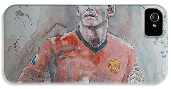 Wayne Rooney iPhone 5s Case - Wayne Ronney - Portrait 1 by Baris Kibar