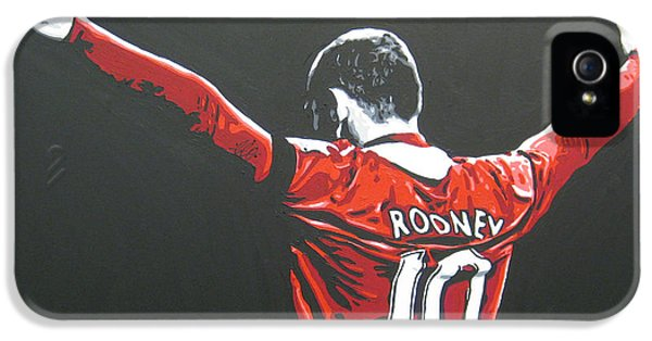 Wayne Rooney iPhone 5s Case - Wayne Rooney - Manchester United Fc 2 by Geo Thomson