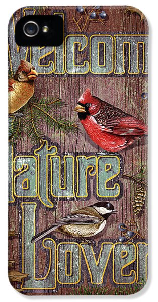 Cardinal iPhone 5s Case - Welcome Nature Lovers 2 by JQ Licensing