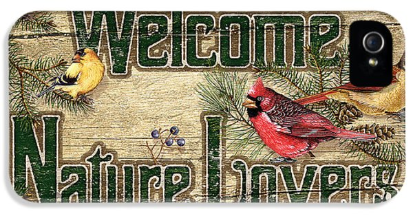 Cardinal iPhone 5s Case - Welcome Nature Lovers by JQ Licensing