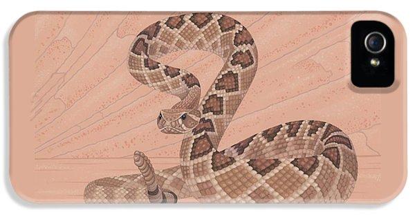 Western Diamondback Rattlesnake IPhone 5s Case by Nathan Marcy