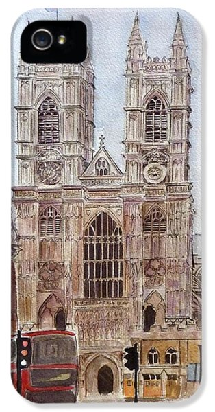 Westminster Abbey iPhone 5s Case - Westminster Abbey by Henrieta Maneva