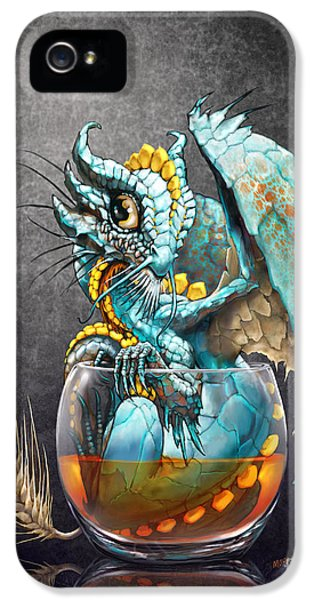Dragon iPhone 5s Case - Whiskey Dragon by Stanley Morrison