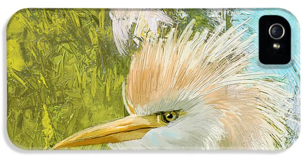 Parakeet iPhone 5s Case - White Kingfisher by Catf