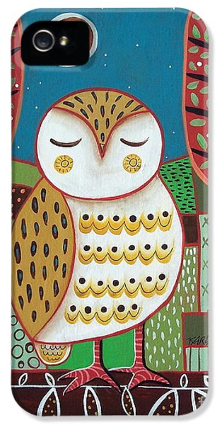White Owl IPhone 5s Case by Karla Gerard