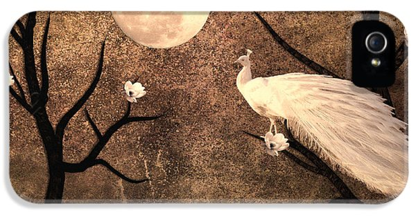 White Peacock IPhone 5s Case by Sharon Lisa Clarke