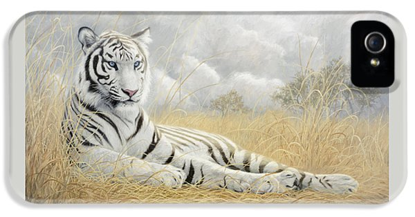 White Tiger IPhone 5s Case by Lucie Bilodeau
