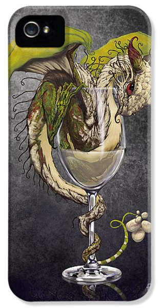 Dragon iPhone 5s Case - White Wine Dragon by Stanley Morrison