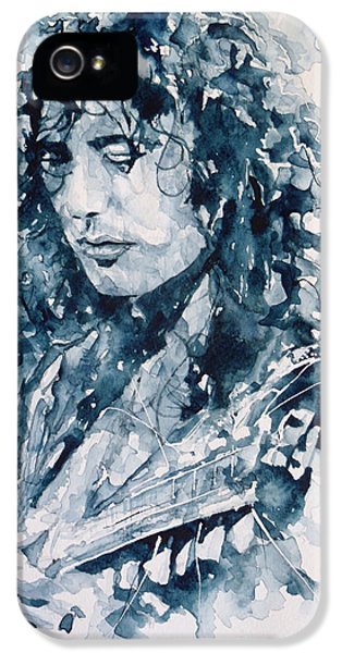 Musicians iPhone 5s Case - Whole Lotta Love Jimmy Page by Paul Lovering