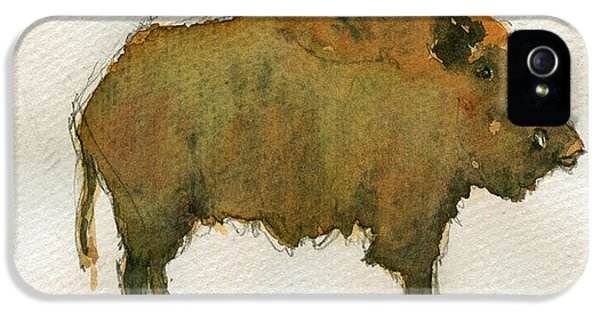 Pig iPhone 5s Case - Wild Boar by Juan  Bosco