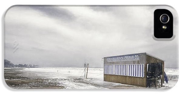 Lake Michigan iPhone 5s Case - Winter At The Cabana by Scott Norris