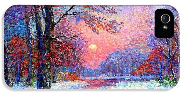 Winter Nightfall, Snow Scene  IPhone 5s Case
