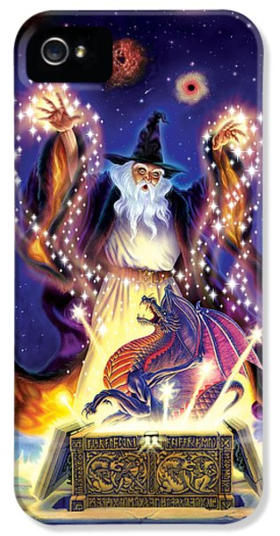 Wizard Dragon Spell IPhone 5s Case by Andrew Farley