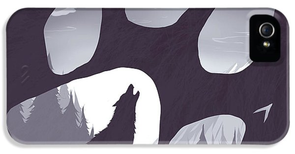 Wolf iPhone 5s Case - Wolf Paw by Daniel Hapi