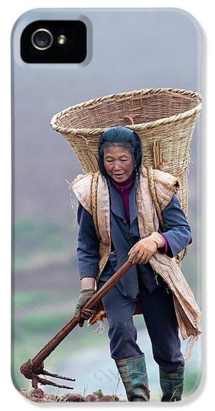 Woman Farm Worker Harvesting Potatoes IPhone 5s Case by Tony Camacho