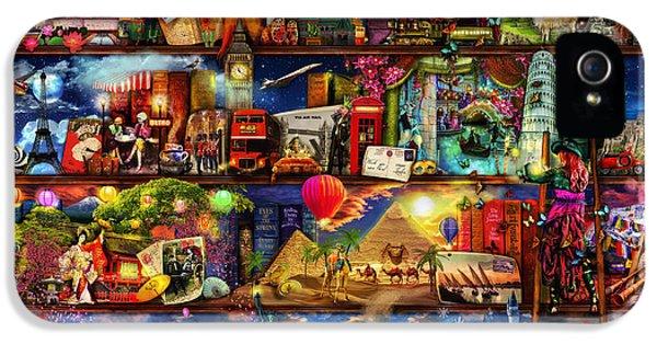 World Travel Book Shelf IPhone 5s Case by Aimee Stewart