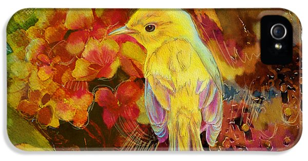 Yellow Bird IPhone 5s Case by Catf