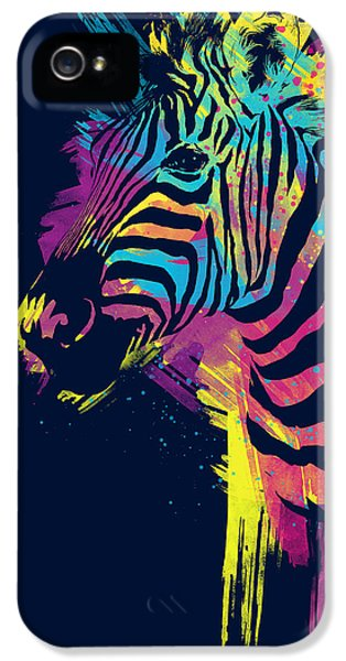 Horse iPhone 5s Case - Zebra Splatters by Olga Shvartsur