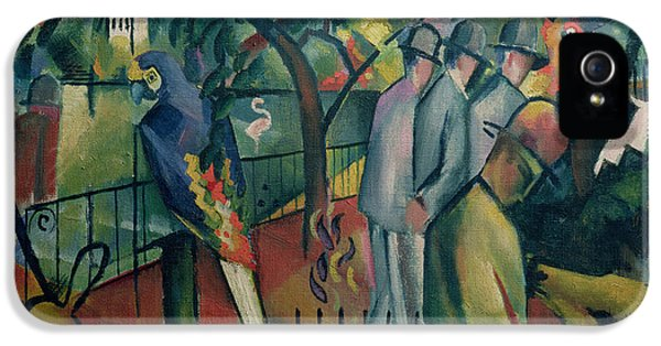Cockatoo iPhone 5s Case - Zoological Garden I, 1912 Oil On Canvas by August Macke