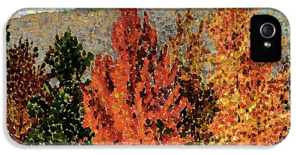 Autumn Landscape IPhone 5s Case by Henri-Edmond Cross