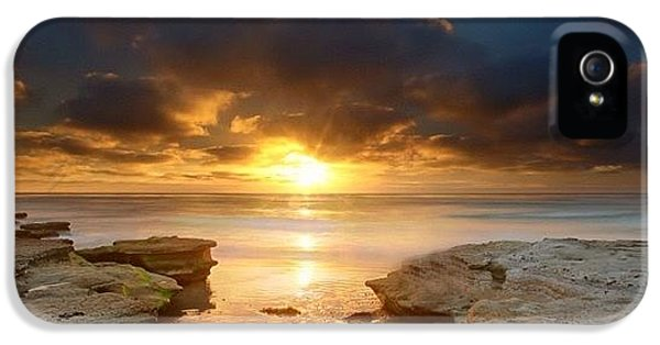 iPhone 5s Case - Long Exposure Sunset In North San Diego by Larry Marshall