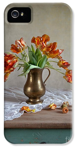 Tulip iPhone 5s Case - Still Life With Tulips by Nailia Schwarz