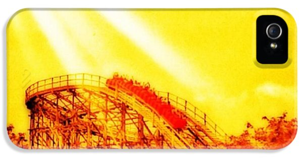 iPhone 5s Case - #amazing Shot Of A #rollercoaster At by Pete Michaud