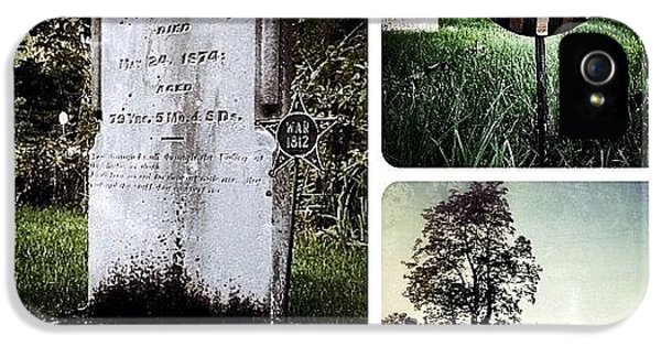 Ohio iPhone 5s Case - At This Small Rural Cemetery In by Natasha Marco