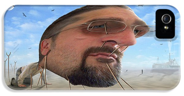 Buzzard iPhone 5s Case - Awake . . A Sad Existence 2 by Mike McGlothlen