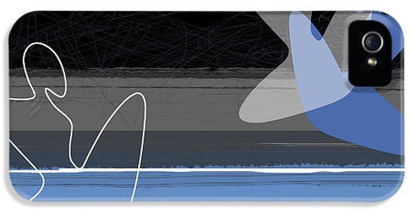 Figurative iPhone 5s Case - Blue Girls by Naxart Studio