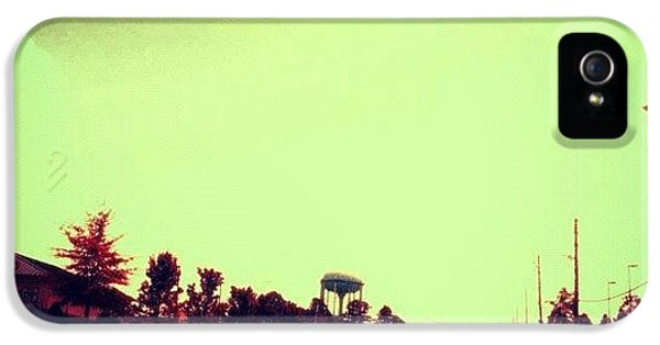 Edit iPhone 5s Case - #cary #driving #sky #red #watertower by Katie Williams