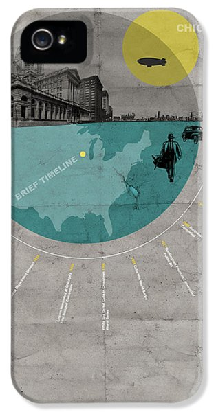 Grant Park iPhone 5s Case - Chicago Poster by Naxart Studio