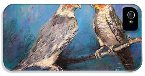 Cockatoo iPhone 5s Case - Coctaiel Parrots by Ylli Haruni