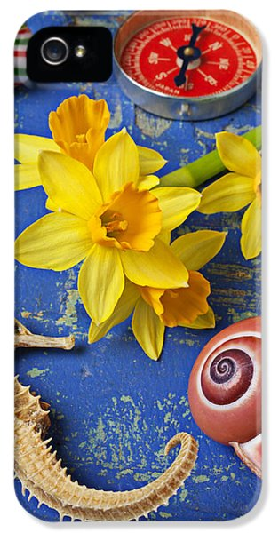 Daffodils And Seahorse IPhone 5s Case