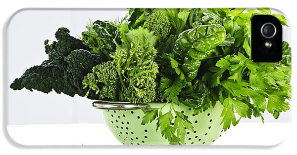 Dark Green Leafy Vegetables In Colander IPhone 5s Case by Elena Elisseeva