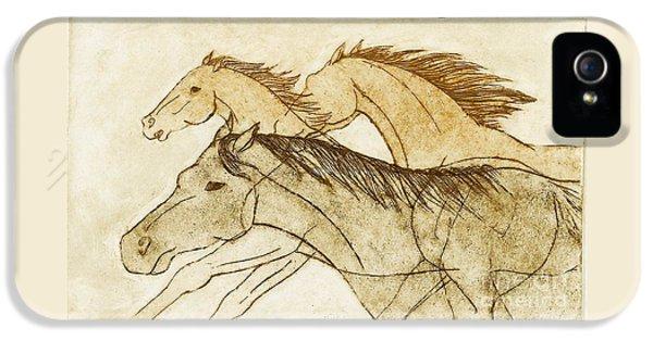 Horse Sketch IPhone 5s Case by Nareeta Martin