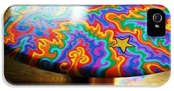 Colorful iPhone 5s Case - I Painted This Table With #sharpie Oil by Mandy Shupp