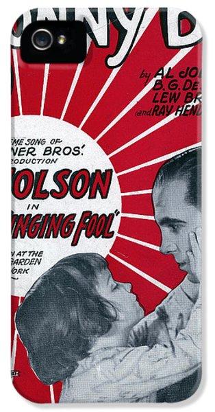 Sonny iPhone 5s Case - Jolson: Sheet Music Cover, 1928 by Granger