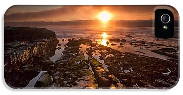 iPhone 5s Case - Long Exposure Sunset In La Jolla by Larry Marshall