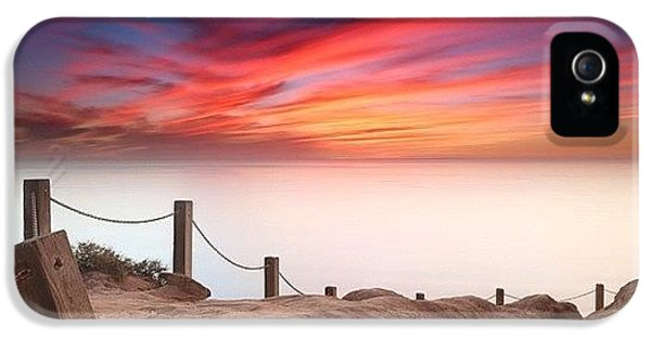 iPhone 5s Case - Long Exposure Sunset Taken From The by Larry Marshall