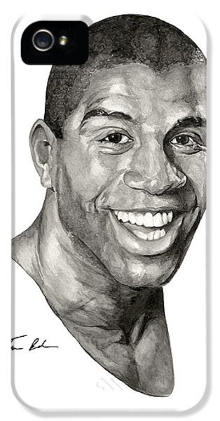 Magic Johnson iPhone 5s Case - Magic by Tamir Barkan