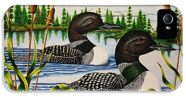 Loon iPhone 5s Case - Morning Swim by Bruce Bley