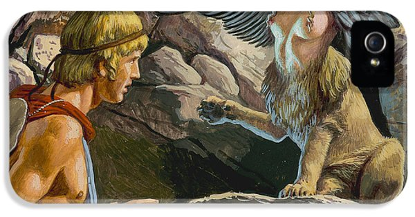 Oedipus Encountering The Sphinx IPhone 5s Case by Roger Payne