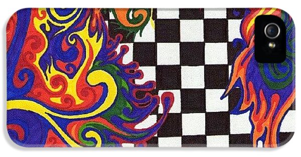 Colorful iPhone 5s Case - One Of A Kind Sharpie Art From by Mandy Shupp
