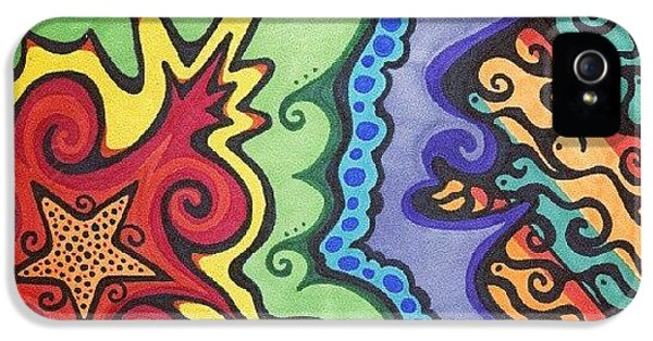 Colorful iPhone 5s Case - Original #sharpie Art ! From by Mandy Shupp