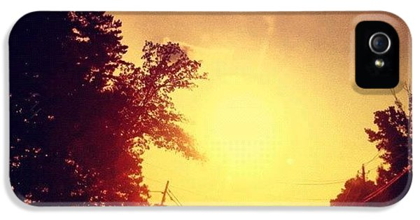 Edit iPhone 5s Case - Picking Up Dinner #driving #sunset #sun by Katie Williams