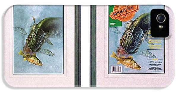 Rolling Stone Magazine iPhone 5s Case - Pike Fishing Original And Magazine by JQ Licensing