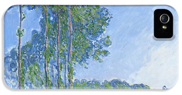 Impressionism iPhone 5s Case - Poplars by Claude Monet