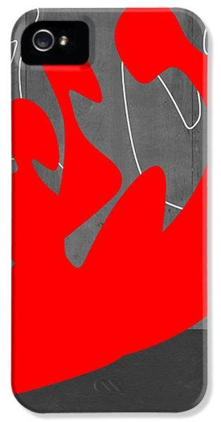 Figurative iPhone 5s Case - Red People by Naxart Studio