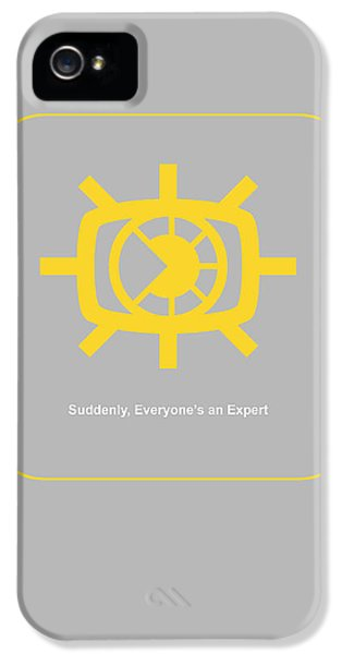 Harvard iPhone 5s Case - Suddenly Everyone Is An Expert by Naxart Studio